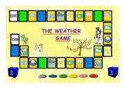 English Worksheet: THE WEATHER BOARD GAME