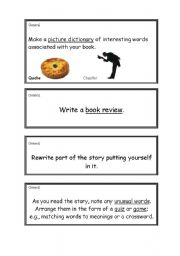 English Worksheets: General Fiction Activities