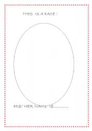 English Worksheets: this is a  face!