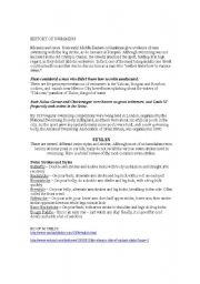 English Worksheet: HISTORY OF SWIMMING