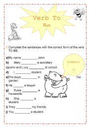 English Worksheets: Exercise VERB TO BE