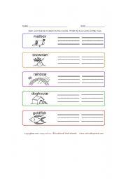 English Worksheets: compund