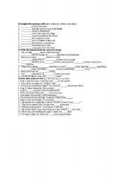 English Worksheets: Demostratives adjetives