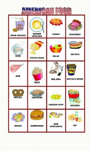 English Worksheet: American Food Part 2,    20 flashcards