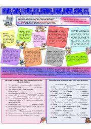 English Worksheet: COLLOCATION 31 - BALANCE, CHANGE, LEFTOVERS, REMAINDER, REMAINS, REMNANTS, RELIC, RESIDUE, REST