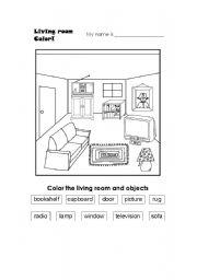 English worksheets: Living Room Vocab