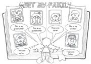 English Worksheets: Meet my family