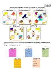 English Worksheet: Food- Likes & Dislikes