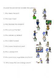 English teaching worksheets: Community helpers