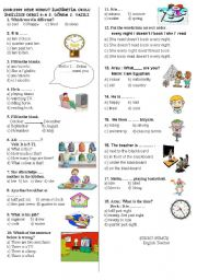 English Worksheet: 6th grade 2nd term 3rd exam paper