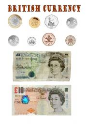 English Worksheet: British currency