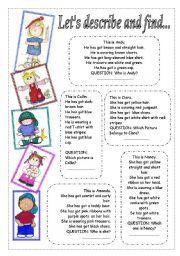 English Worksheets: Matching activity..
