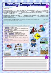 English Worksheets: A Technical Answer - Reading Comprehension + Grammar + Vocabulary