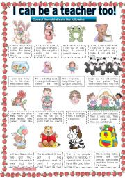 English Worksheets: I CAN BE A TEACHER TOO! correcting mistakes activity