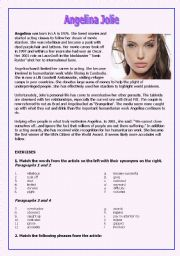 English Worksheets: Angelina Jolie