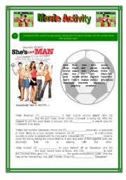 English Worksheets: Movie Activity - She�s the man