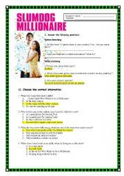English Worksheets: Slumdog millionaire ANSWER KEY
