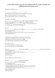 English Worksheets: Misunderstood - Bon Jovi