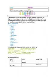 English Worksheets: TOEFL