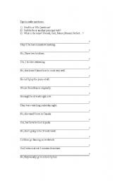 English Worksheets: how to make questions - part 3