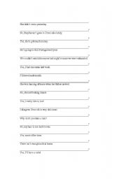 English Worksheets: how to make questions - part 4