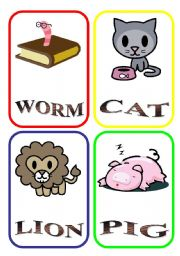 English Worksheets: ANIMAL FLASH-CARDS - PART 1