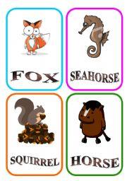 English Worksheets: ANIMAL FLASH-CARDS - PART 2