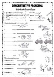 English Worksheet: Demonstrative pronouns (this, that, these, those)