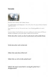 English Worksheets: Climate changes