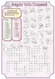 Irregular verbs crossword 1