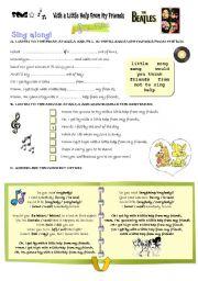 English Worksheets: SONG -
