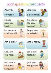 short questions using be, can and do