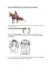 English Worksheet: native indians