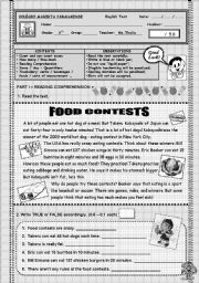 English Worksheet: 6TH GRADE TEST - FOODS & BEVERAGES - QUANTIFIERS - COUNT & UNCOUNTABLE NOUNS - SOME & ANY - HOW MUCH & HOW MANY ...