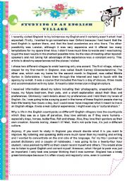English Worksheet: Living in London. Diary of a student in England
