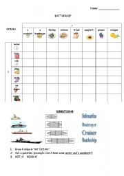 English Worksheet: Battleship Game_Can I Have (Food)?