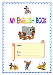 English Worksheet: Cover for English book/portfolio