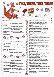 English Worksheets: THIS, THESE, THAT, THOSE
