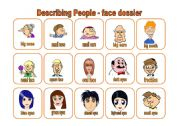 English Worksheets: Describing people - face dossier (18.07.09)