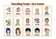 English Worksheet: Describing people - face dossier (18.07.09)