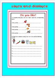 English worksheet: food & drinks