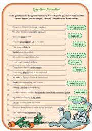 English Worksheets: Question formation (+B&W+ KEY)