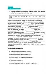 English Worksheets: Text Comprehension