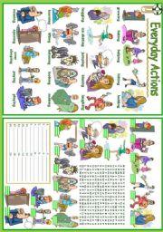 English Worksheet: Everyday Actions (3/5)