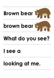 Brown Bear worksheets