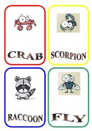 English Worksheets: ANIMAL FLASH-CARDS - PART 3