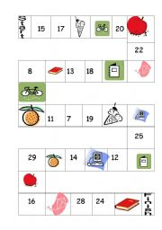 English Worksheet: NUMBERS- BIG AND SMALL OBJECTS