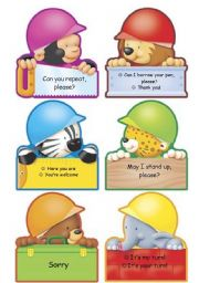 English Worksheet: Classroom Language poster (part 2)