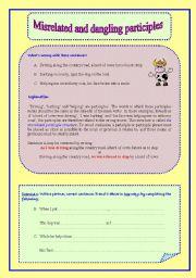 Dangling participles worksheet