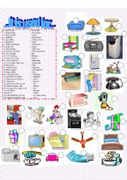 English worksheet:  House objects - It is used for...